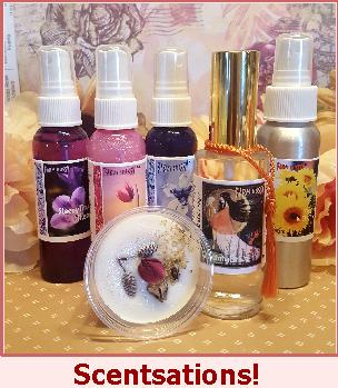 Iowanna Smell Pretty - Hair and Body Mist / Glisten Up! Sweetie - Glitter Spray / Pixie Scent Petals - Roll on Perfume Concentrate / SleepyTime Hussy - Night Time Botanical Mist / Mr. Hussy - Alluring Cologne